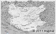 Gray Panoramic Map of Bac Thai
