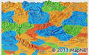 Political Panoramic Map of Bac Thai