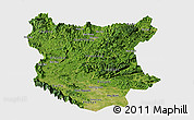Satellite Panoramic Map of Bac Thai, single color outside