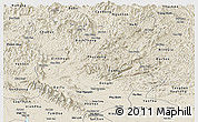 Shaded Relief Panoramic Map of Bac Thai