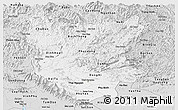 Silver Style Panoramic Map of Bac Thai