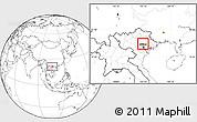 Blank Location Map of Pho Yen