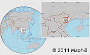 Gray Location Map of Pho Yen