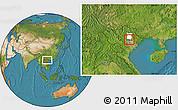 Satellite Location Map of Pho Yen, highlighted parent region
