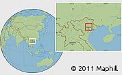 Savanna Style Location Map of Pho Yen