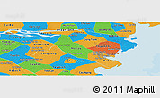 Political Panoramic Map of Ben Tre