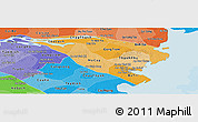 Political Shades Panoramic Map of Ben Tre