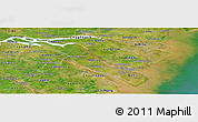 Satellite Panoramic Map of Ben Tre