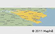 Savanna Style Panoramic Map of Ben Tre