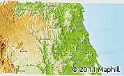 Physical 3D Map of Hoai An