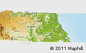 Physical Panoramic Map of Hoai An