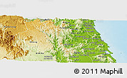 Physical Panoramic Map of Vinh Thanh