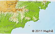 Physical 3D Map of Tuy Phong