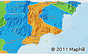 Political 3D Map of Tuy Phong