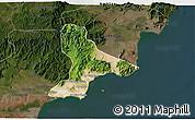 Satellite 3D Map of Tuy Phong, darken