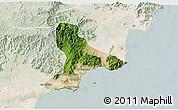 Satellite 3D Map of Tuy Phong, lighten