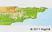 Physical Panoramic Map of Tuy Phong