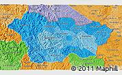 Political Shades 3D Map of Cao Bang