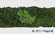 Satellite Panoramic Map of Ba Be, darken