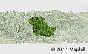 Satellite Panoramic Map of Ba Be, lighten