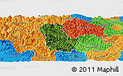 Satellite Panoramic Map of Ba Be, political outside