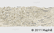 Shaded Relief Panoramic Map of Ba Be