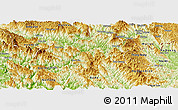 Physical Panoramic Map of Bao Lac