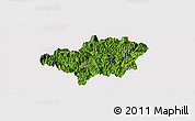 Satellite Panoramic Map of Bao Lac, cropped outside