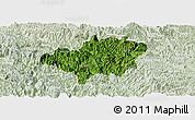 Satellite Panoramic Map of Bao Lac, lighten