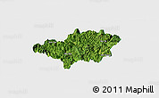 Satellite Panoramic Map of Bao Lac, single color outside