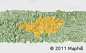Savanna Style Panoramic Map of Bao Lac