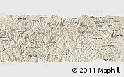 Shaded Relief Panoramic Map of Bao Lac