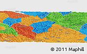 Political Panoramic Map of Ha Lang