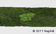 Satellite Panoramic Map of Ha Lang, darken