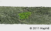 Satellite Panoramic Map of Ha Lang, semi-desaturated