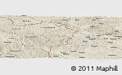 Shaded Relief Panoramic Map of Ha Lang