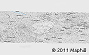 Silver Style Panoramic Map of Ha Lang