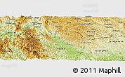 Physical Panoramic Map of Ha Quang
