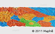 Political Panoramic Map of Ha Quang