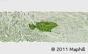 Satellite Panoramic Map of Ha Quang, lighten