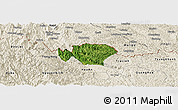 Satellite Panoramic Map of Ha Quang, shaded relief outside