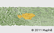 Savanna Style Panoramic Map of Ha Quang