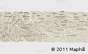 Shaded Relief Panoramic Map of Ha Quang