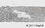 Gray Panoramic Map of Hoa An