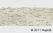 Shaded Relief Panoramic Map of Hoa An