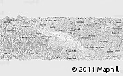 Silver Style Panoramic Map of Hoa An