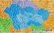 Political Shades Map of Cao Bang