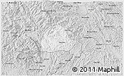 Silver Style 3D Map of Ngan Son