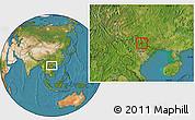 Satellite Location Map of Ngan Son