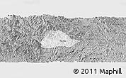 Gray Panoramic Map of Ngan Son